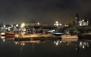 Rauðaskriða - Húsavík at night